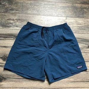 Patagonia blue nylon baggie shorts
